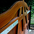 Bespoke wooden entry system gates